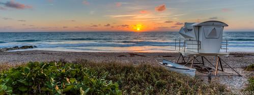 ocean sky west beach sunrise canon scott island james stand florida s lifeguard palm atlantic ave worth fl avenue ef 1740 lr5 5diii