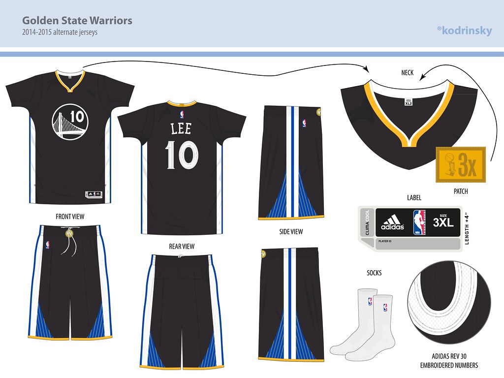 c183fe37717 ... Golden State Warriors 2014-2015 alternate uniform