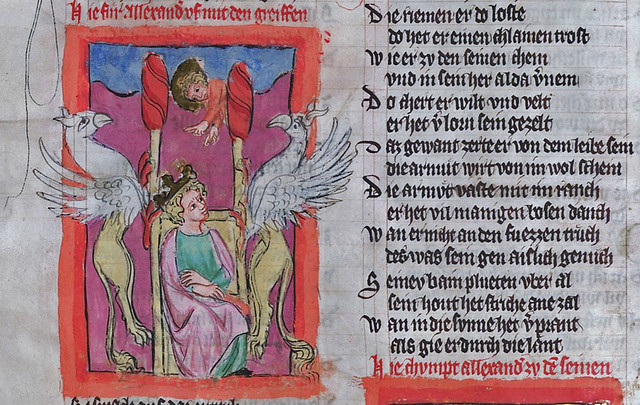 Alexander's flight to heaven - Weltchronik [~1350]