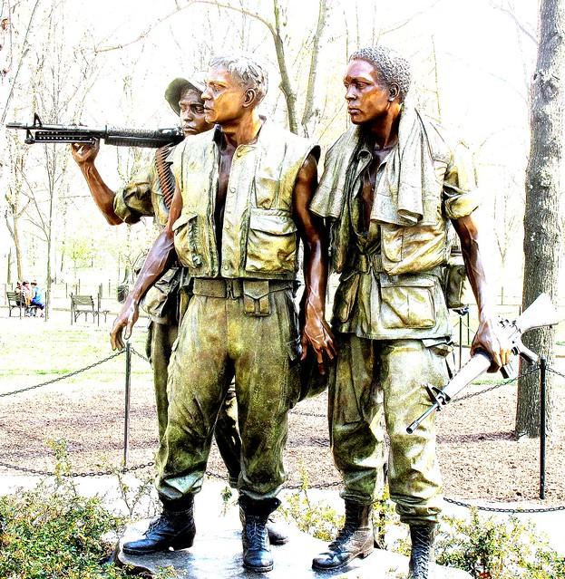 Vietnam War Memorial bronze statue, Washington DC