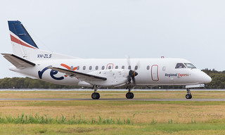 Saab 340 VH-VLS heading to gate 26 for flight to Toowoomba | by mudge.stephen