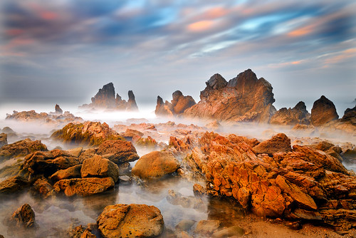 littlecoronabeach coronadelmar southerncalifornia ocean coast seascape landscape sunrise longexposure clouds jaggedrocks sky color light nikon explore explored