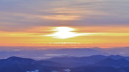 ocean new winter lake sunrise gold washington december mt view cloudy overcast nh hampshire dec atlantic mount strip vista peaks distant 2014 sebago doubleheads