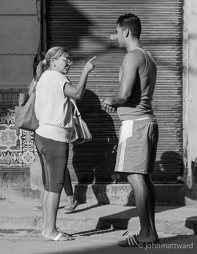 Cuban Woman remonstrates with young Man | by JohnMattWard