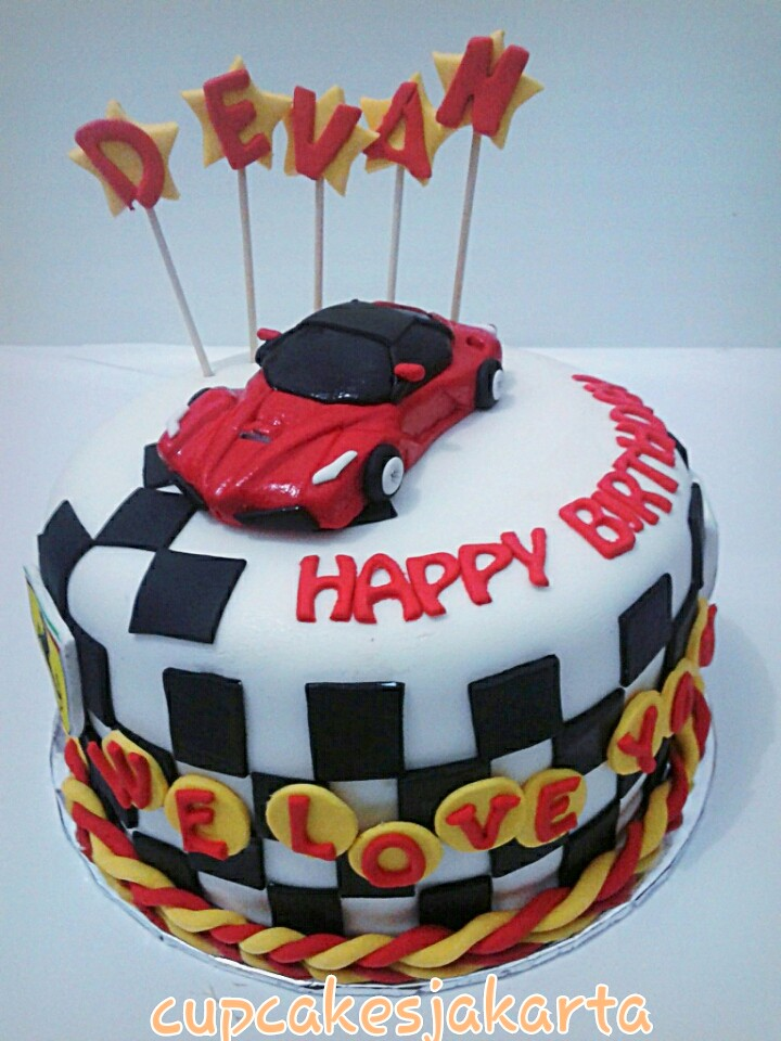 Awe Inspiring Ferrari Birthday Cake Jakarta A Photo On Flickriver Funny Birthday Cards Online Aboleapandamsfinfo