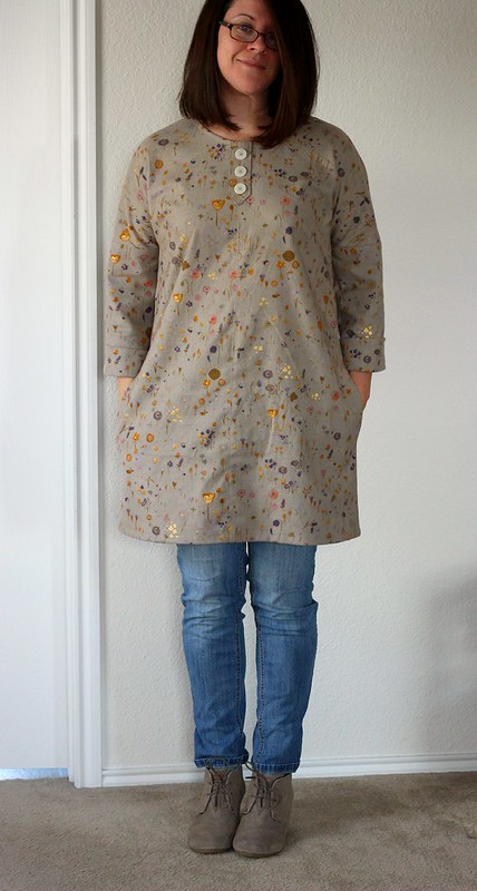 Modified Vogue 8840 in Nani Iro Brushed Cotton by Aja Vaz