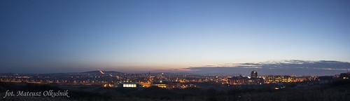 sunset panorama night town nikon poland manfrotto kielce d3200 olekgraf