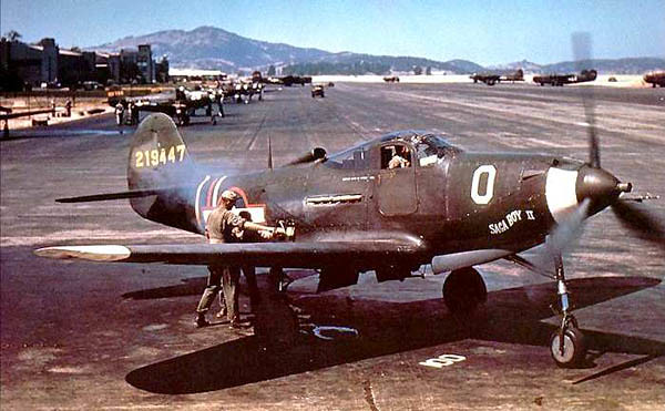Classic lines of the P-39