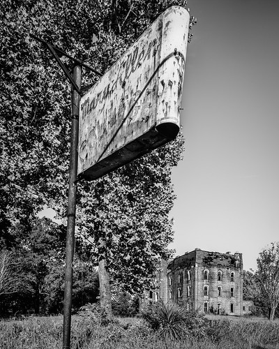 abandoned africanamerican bw black blackwhite blackandwhite building canontse24mmf35lii college decay decayed derelict deserted dilapidated maryallen monochrome neon old seminary sign tiltshift crockett texas unitedstates us