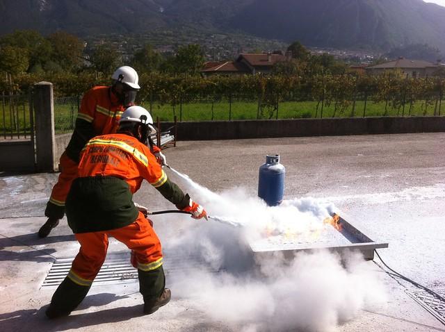 Foto dai corsi antincendio