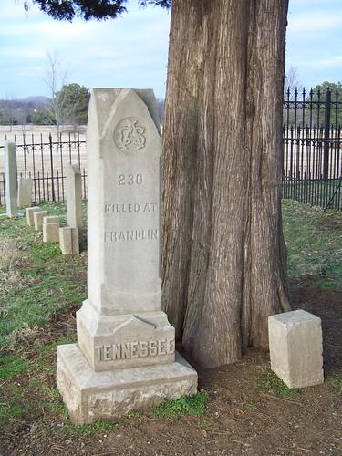 cemetery franklin war tennessee battle confederate civil american campaign mcgavock franklinnashville