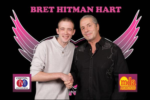Bret Hart Hitman Wwe Wwf Legend Pink And Black Tour Uk Flickr