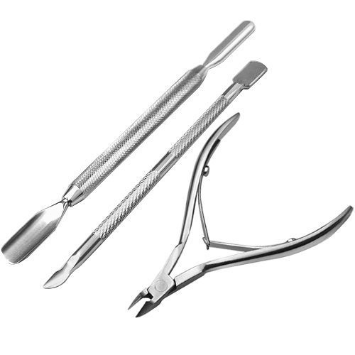 Ostart Nail Art Tool Solingen 3 Stainless Nail Cuticle Nipper Remover Clipper Manicure Set