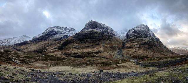 Bidean Nam Bian Mountain Range Glencoe Scotland 12/2014