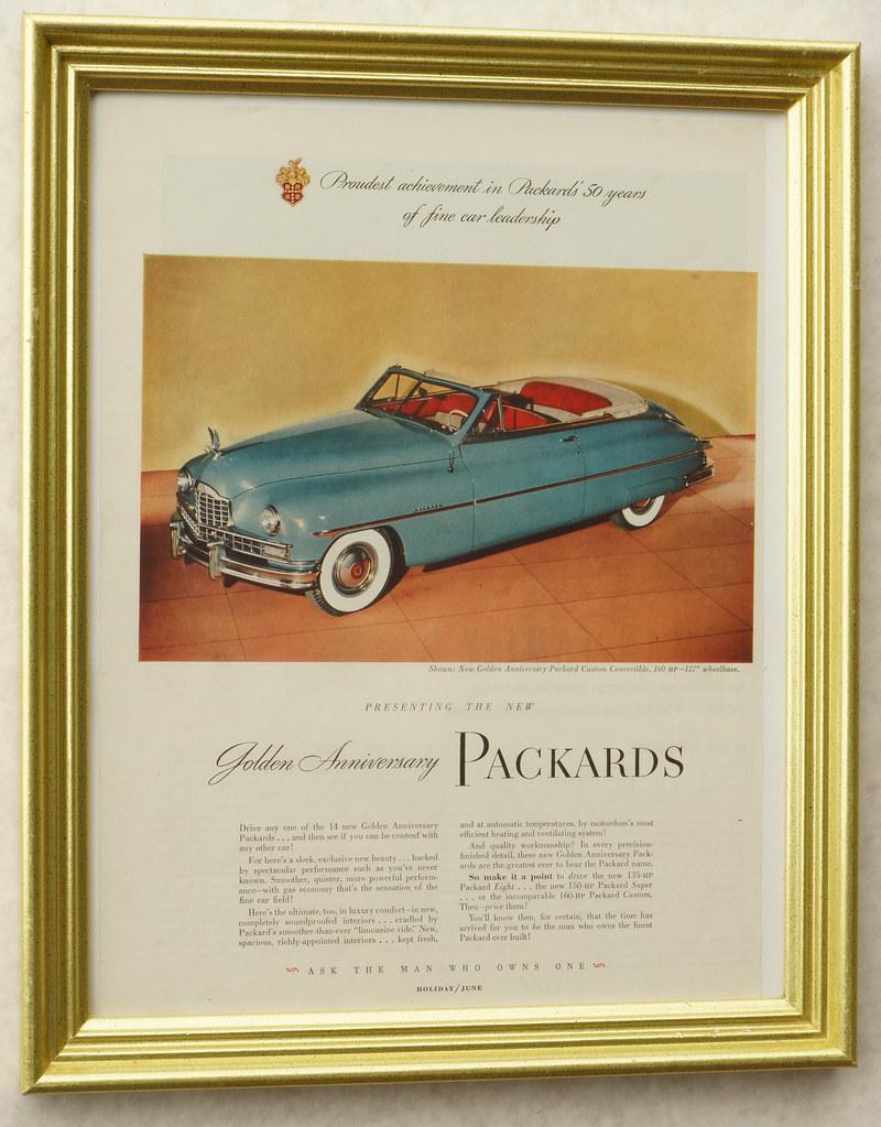 CM062 1949 Packard Car Ad Framed DSC04394