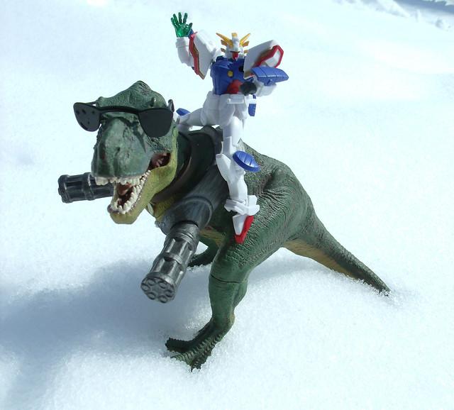 Gundam riding Wexter