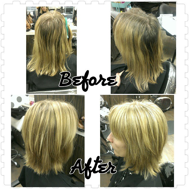 Before And After Nobasecolor Highlights Lowlights Hair