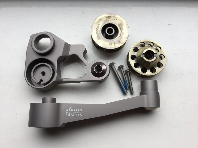 My new BikeFun bits for the Brompton have arrived. Look forward to fitting on the bike,which is in Spain