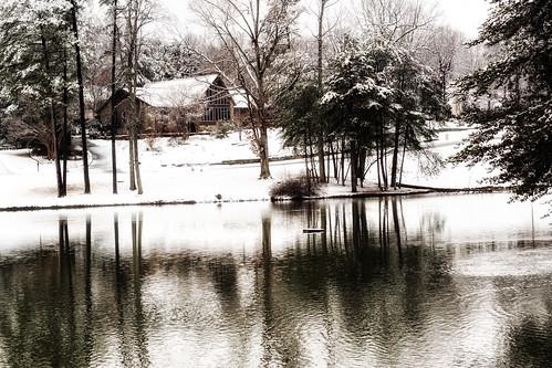 winter lake snow landscape photography raw northcarolina february gastonia heatherlock dorameulman