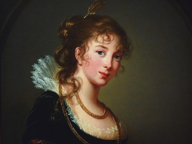 VIGÉE-LE BRUN Elisabeth,1802 - La Princesse Radziwill - Detail -c