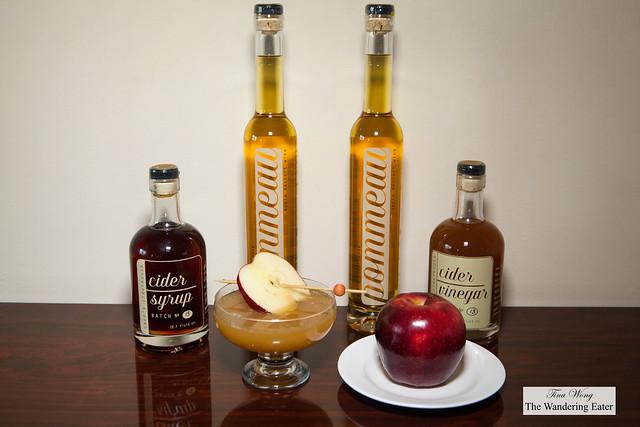 Carr's Ciderhouse: Pommeau brandy, Cider Syrup, Cider Vinegar