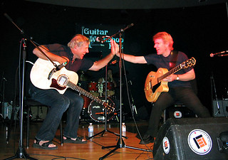 A great afternoon & night with Alex Lifeson (Rush) at the Guitar Workshops Plus event out in Oakville, on the Appleby College campus July 2006 | by rikemmett1
