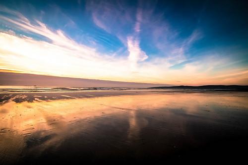 ireland sunset beach canon reflections walking spring raw kerry tralee febuary walkingtrack 2015 landscapephotography bannabeach irishseascape tamron1024mm
