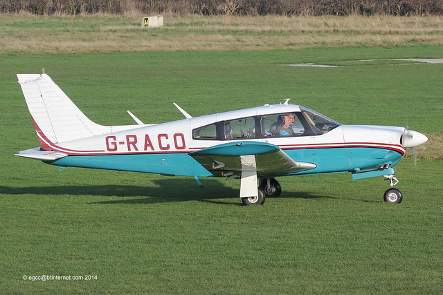 G-RACO - 1975 build Piper PA-28R-200 Cherokee Arrow, returning after a brief local flight