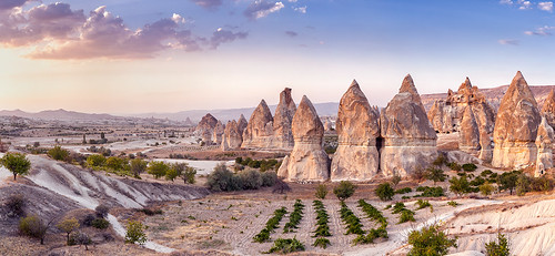light sunset panorama turkey rocks pano panoramic cappadocia göreme goreme rockformation kapadokya fairychimney
