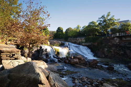 park city usa water river landscape us downtown day south sunny center falls clear southern waterfalls carolina greenville the reedy