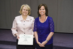 Health Promotion & Education Student Excellence Award presented to Kim London by Marietta Orlowski