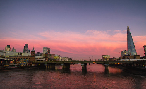 camcam canon talkie wilkie clouds sunset thames shard southwark bridge tower london