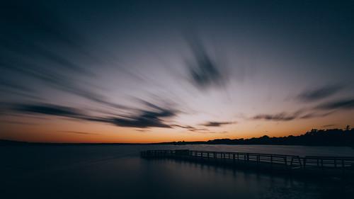 longexposure sunset nature pier motion clouds dusk pewaukee wisconsin pewaukeelake canoneos5dmarkiii canonef1635mmf4lis bwnd1000x