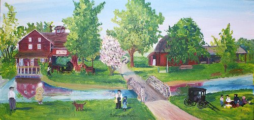 'Bonneyville Picnic' Painting | by Mathers Museum of World Cultures