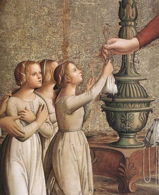 [ R ] Antoniazzo Romano - Annunciation (1485) - detail
