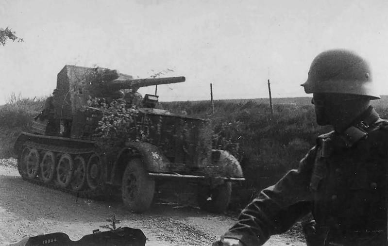 8,8 см зенитная 18 самоходная артиллерия на тягачах 12т SdKfz 8.