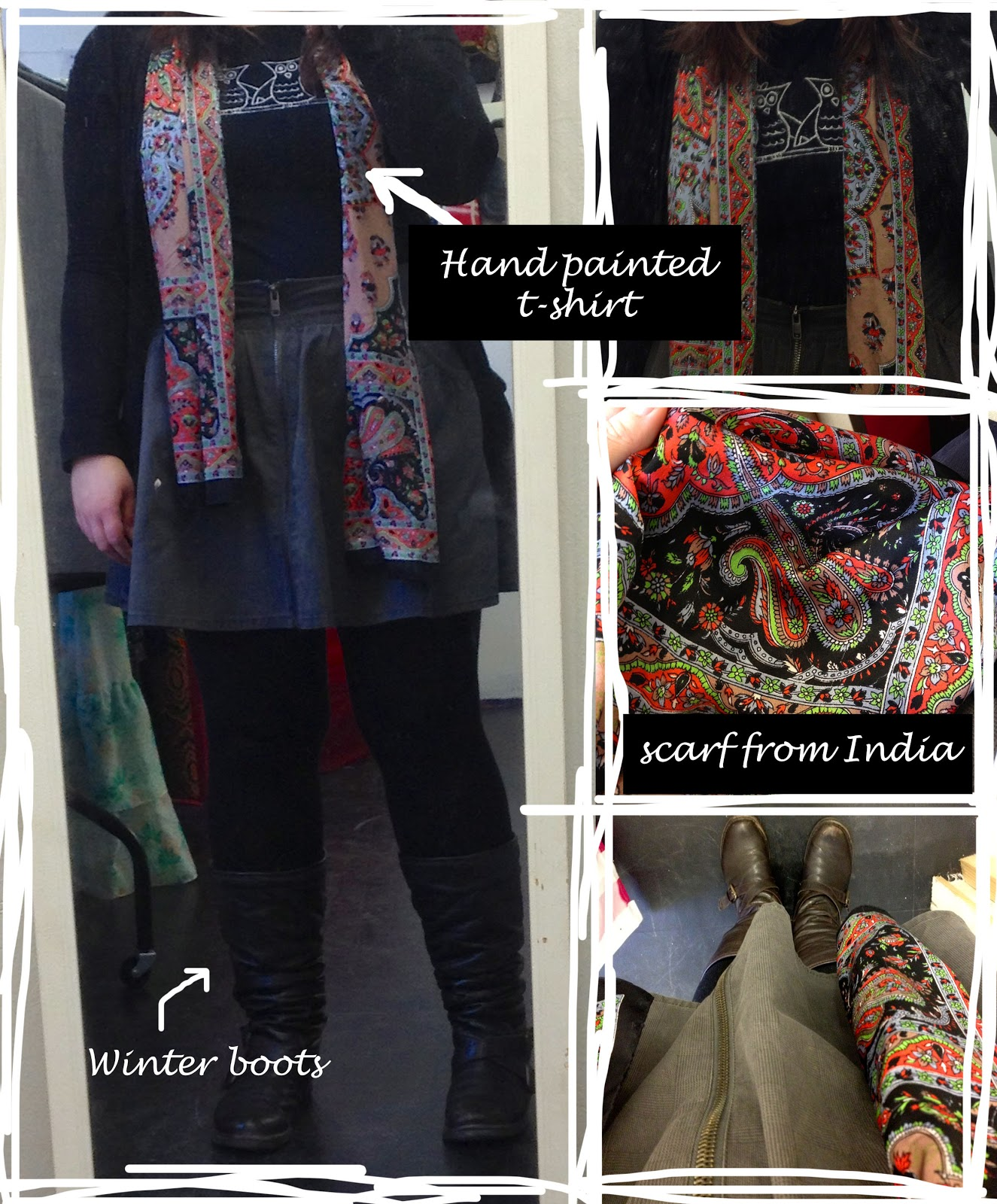 Outfit post: Just another day but I have a pretty scarf