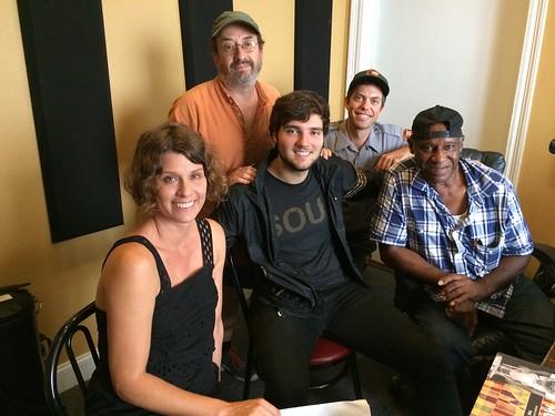 Rachel Breunlin, Rockin' Ron Phillips, John Michael Bradford, Ranger Bud Holmes, and Benny Jones, Sr. at WWOZ - Wednesday, August 3, 2016