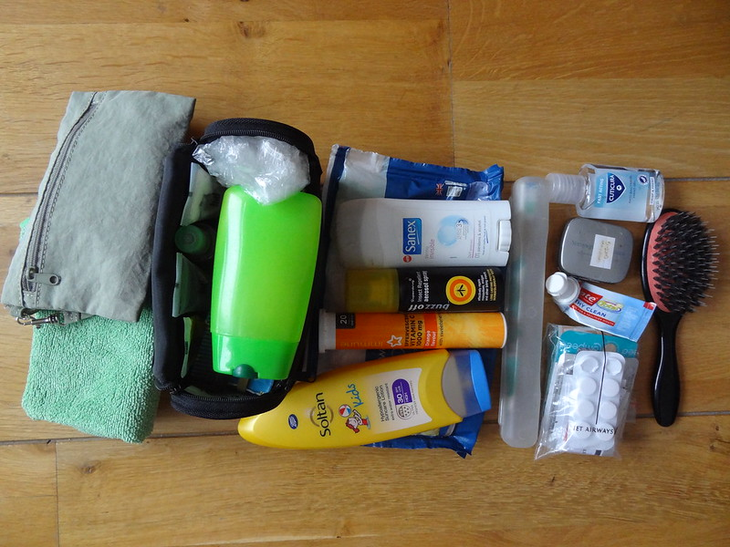 First aid, toiletries, tiny trek towel