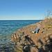 Flood basalts (Lake Shore Traps Member, Copper Harbor Conglomerate, 1.087 Ga; Eagle Harbor, Upper Peninsula of Michigan, USA)