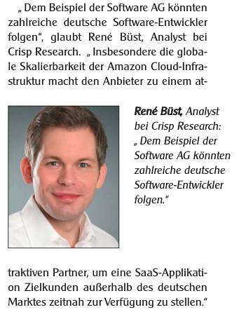 Zitate in Infomarkt Nr.22/2014 zur aktuellen Situation von Amazon AWS in Deutschland. | by ReneBuest