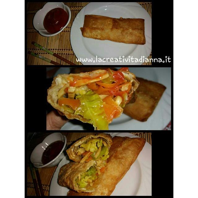 Ricetta Involtini Primavera Senza Carne.Involtini Primavera Senza Carne Very Good Piu Salsa Agro Flickr