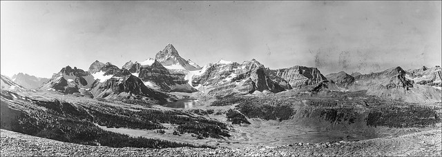 Historic panoramas from Mt. Assiniboine Provincial Park