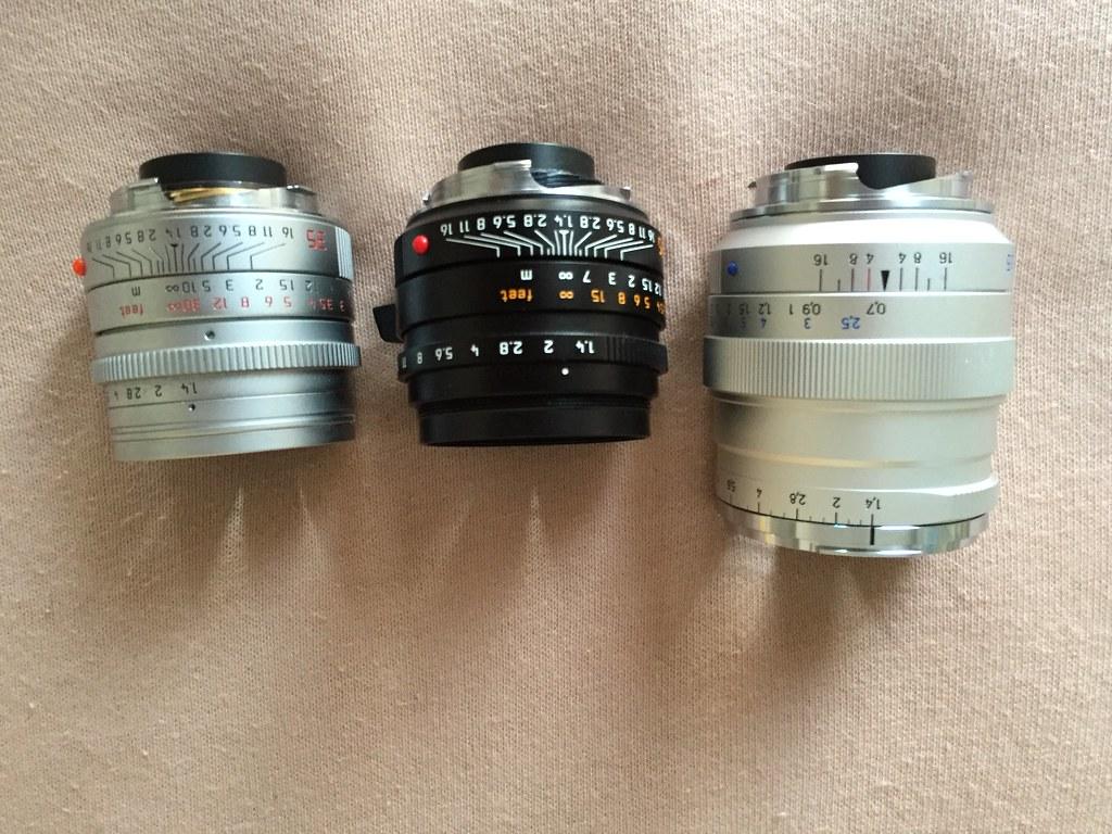 Carl Zeiss ZM 35/1 4 size comparison: On camera (M240) Ver… | Flickr