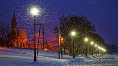 Snowlight; Waterville, Maine