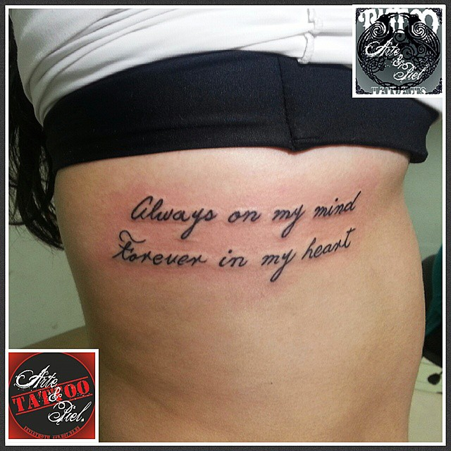 Frase Costillas Tattooarteypiel Tatuajes Artisticos