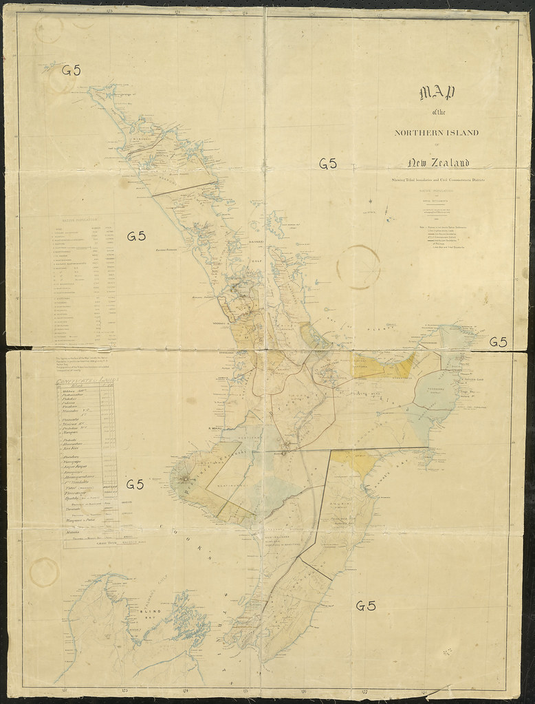 New Zealand Maori Map.Map Of The North Island With Confiscated Land Blocks Iwi Flickr