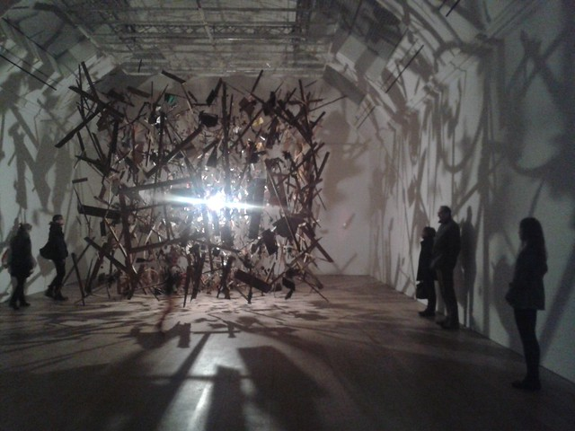 Cold Dark Matter: An Exploded View (1991) by Cornelia Parker at the Whitworth Art Gallery, Manchester #GalleryInThePark