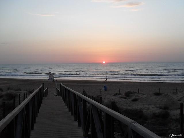Amanecer en la Playa del Moncayo