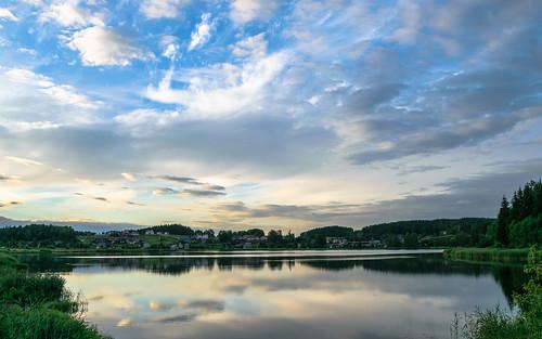 belarus landscape lake nature
